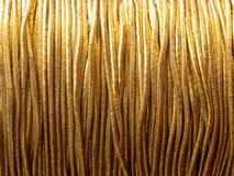 Cuerda de rosca del oro Imágenes de archivo libres de regalías
