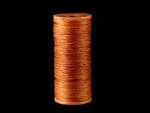 Cuerda de rosca fuerte anaranjada Fotografía de archivo