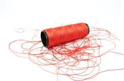 Cuerda de rosca roja Imagen de archivo