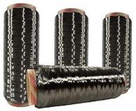 Cuerda de rosca sin procesar de la fibra del carbón Imágenes de archivo libres de regalías