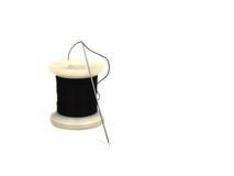Cuerda de rosca y aguja Foto de archivo