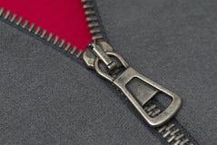 Cuerda de rosca y materia textil de la cremallera Fotos de archivo libres de regalías
