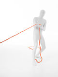 Cuerda de tirones del hombre blanco Imagen de archivo