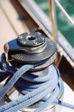 Cuerda del barco de vela fotos de archivo