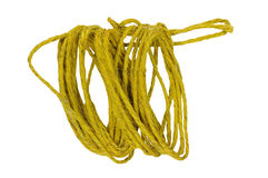 Cuerda del cáñamo en blanco Imagen de archivo