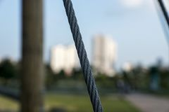 Cuerda del metal fotografía de archivo libre de regalías