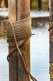 Cuerda del muelle Imagen de archivo libre de regalías