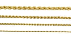 Cuerda del oro Imagen de archivo libre de regalías