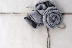 Cuerda del papel del marco de Rose Fotos de archivo libres de regalías