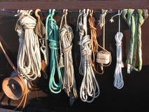 Cuerda del pescador Foto de archivo libre de regalías