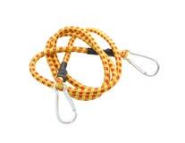 Cuerda elástico en blanco Foto de archivo