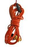Cuerda eléctrica anaranjada fotografía de archivo