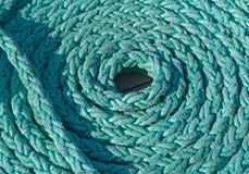 Cuerda en espiral en la cubierta imágenes de archivo libres de regalías