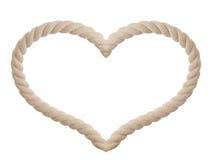 Cuerda en la dimensión de una variable del corazón aislada Foto de archivo libre de regalías