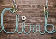 Cuerda en la forma de la subida de la palabra Imagenes de archivo