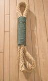 Cuerda en la madera Fotografía de archivo