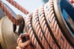 Cuerda en la nave Fotografía de archivo libre de regalías