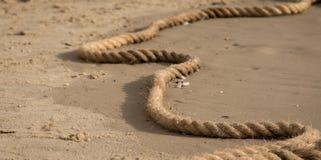 Cuerda en la playa Foto de archivo libre de regalías