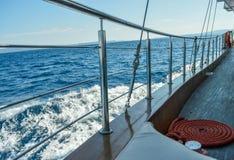 Cuerda en una nave Fotografía de archivo libre de regalías