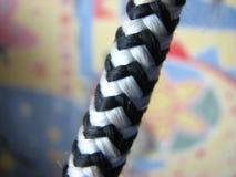 cuerda fuerte blanco y negro imagen de archivo libre de regalías
