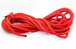 Cuerda gruesa torcida en blanco Imagen de archivo libre de regalías