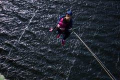 Cuerda jimping Imagen de archivo