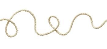 Cuerda ondulada blanca Foto de archivo