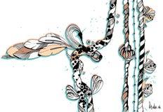 Cuerda original del gráfico de la tinta Fotos de archivo libres de regalías