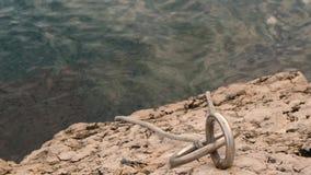 Cuerda para el barco del lazo almacen de metraje de vídeo