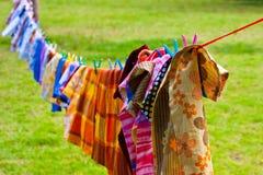Cuerda para tender la ropa Foto de archivo libre de regalías