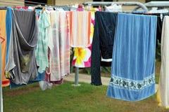 Cuerda para tender la ropa Fotos de archivo