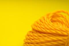 Cuerda plástica amarilla Fotografía de archivo