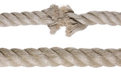 Cuerda quebrada Foto de archivo libre de regalías