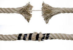 Cuerda quebrada Foto de archivo