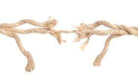 Cuerda rasgada del cáñamo Foto de archivo libre de regalías