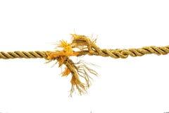Cuerda rasgada del oro Fotos de archivo libres de regalías