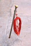 Cuerda roja Foto de archivo