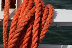 Cuerda roja Foto de archivo libre de regalías