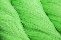 Cuerda verde del poliéster Imagen de archivo