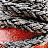 Cuerda y cabrestante fotografía de archivo libre de regalías
