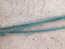 Cuerda y cemento de nylon fotografía de archivo libre de regalías