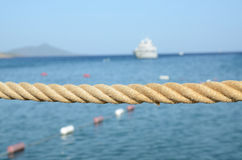 Cuerda y mar Imagen de archivo