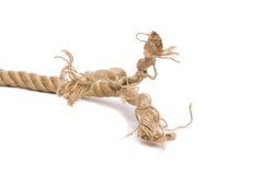 Cuerda y nudo de la nave aislados Fotos de archivo libres de regalías