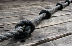Cuerda y nudos Fotos de archivo libres de regalías