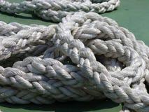 Cuerdas de barco fotografía de archivo libre de regalías