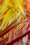 Cuerdas de corrección ópticas en el centro de datos Imagen de archivo