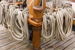 Cuerdas de las naves foto de archivo