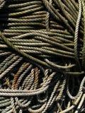 Cuerdas de los pescadores Fotos de archivo libres de regalías