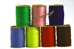 Cuerdas de rosca coloreadas Fotografía de archivo