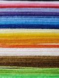 Cuerdas de rosca coloridas Fotografía de archivo